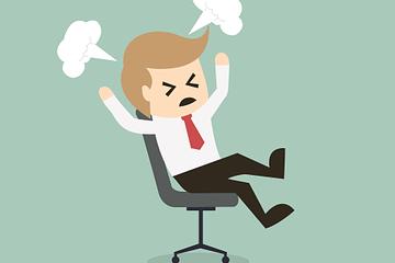 stressed lawyer